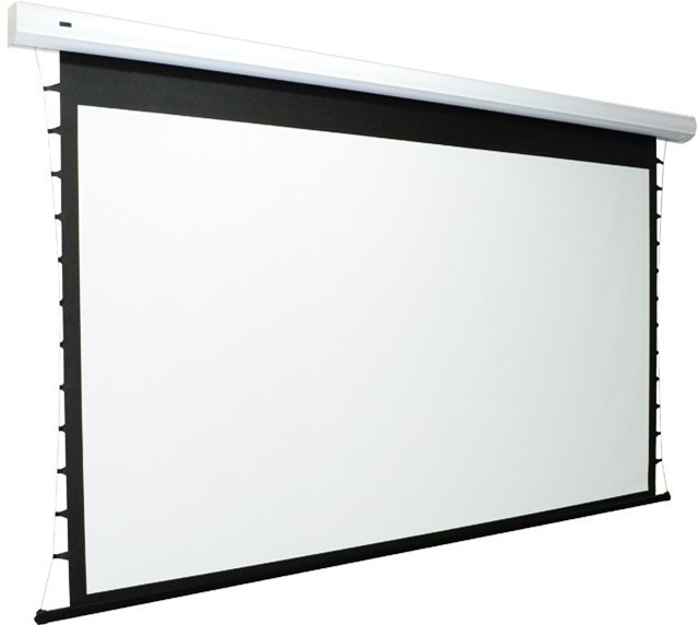 Cts066118fwb ceiling recessed tab tensioned motorized for Tab tensioned motorized projection screen