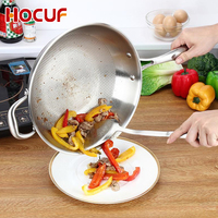Heat resistant Thickening double dry fry pan non stick