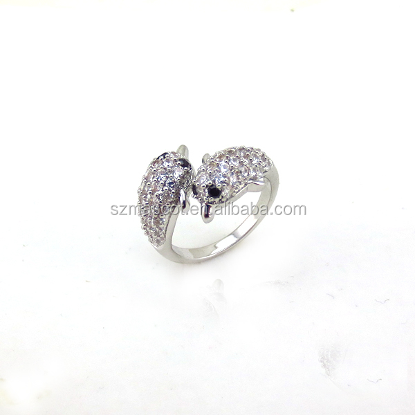 Sample Engagement Rings Mounting Silver,Friendship Ring Design with White Gold Plated.