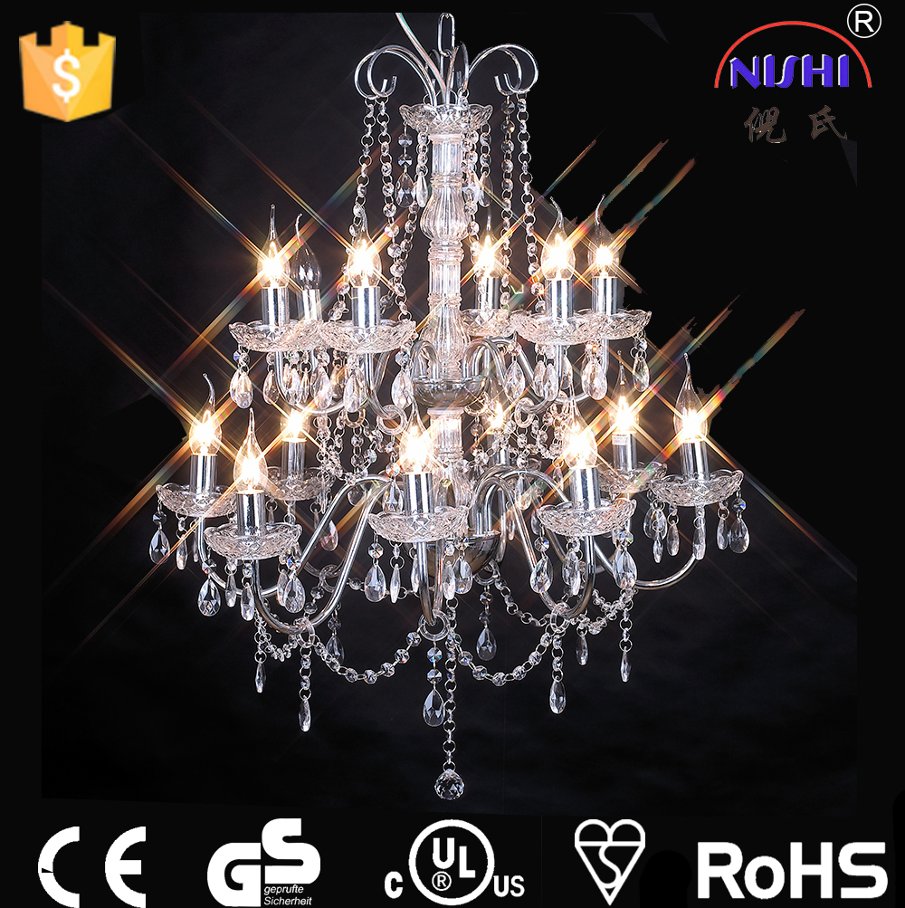 big chandelier crystals/asfour crystal chandelier hotel,home decoration crystal chandelier lighting CE,UL approved NS-120037C