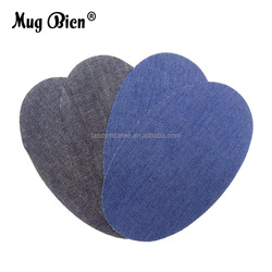 High quality Jeans Clothes Apparel Repair oval iron-on Denim patch