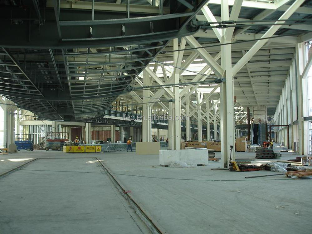 galvanized structure steel fabrication for train station