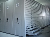 High Density Mobile Filing Systems/ Space Saving Mass Shelves /Metal Files Racks