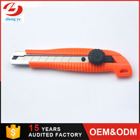 Competitive price 18mm snap off carpet cutter blades wallpaper utility knife