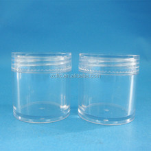 10ml Factory supply clear PP PS cosmetics jar, 31x32mm clear cosmetic cream jar