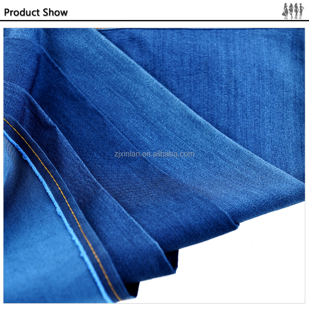 Breathable comfort Anti-shrink blue jean fabric