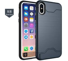 Mobile phone accessories cover tpu pc wallet armor case for iphone X, for iphone 8 case hybrid, for iphone 7 kickstand case
