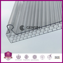 UV protection U-lock polycarbonate multiwall hollow sheets