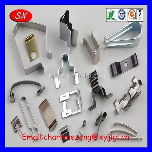 ISO / CE / ROHS Customized Metal Spring Clips / Stainless Steel Clips /battery spring contact