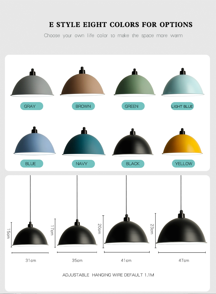 Good  price colorful aluminum chandelier hang lamp  fixture restaurant office dance coffee dinning room  led pendant light