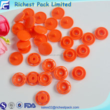 Fashion designer clothing buttons plastic press ring snap button with logo