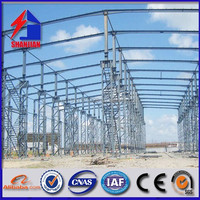2015 light prefabricated H section steel frame shed, steel structure workshop
