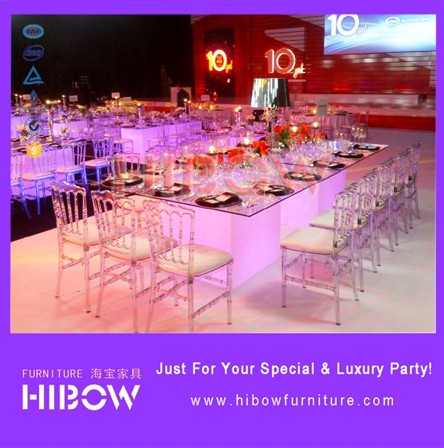French Style Commercial Furniture Acrylic Wedding Chair for Wedding/Events/Party/Hotel/Rental