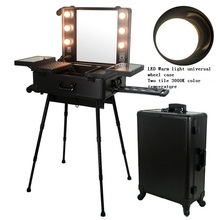 beauty store travel makeup cosmetic trolley case Cosmetic Makeup Train Case professional makeup trolley case
