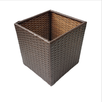 PE rattan wicker laundry basket, laundry hamper for hotel and home use
