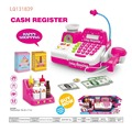 cash register with sound light and microphone toy