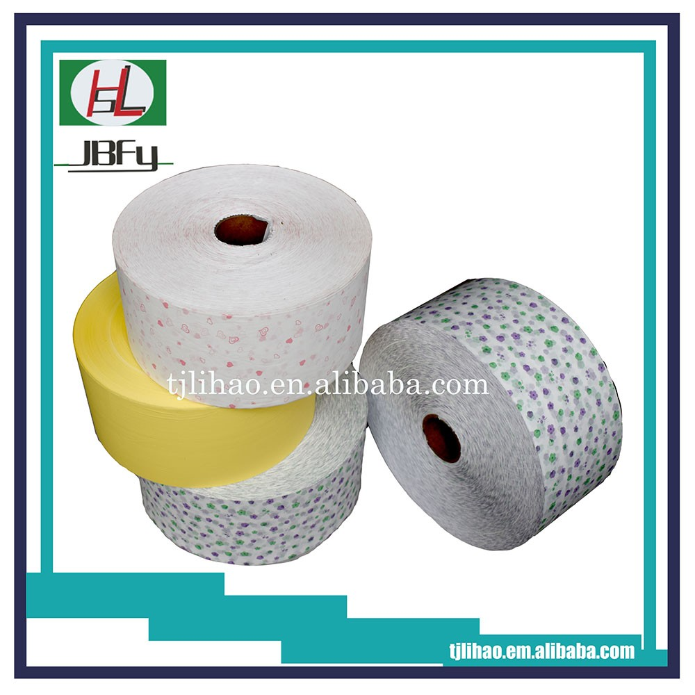 Printed shrink PE backsheet film for sanitary pad