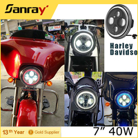"CE PC SUVcars 45 watts led halo light, high low beam IP67 10V 7"" led driving light for Harley davidson"