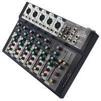 Professional stage live studio Karaoke Mini Audio mixer USB sound mixing console DJ KTV Show 7 channels