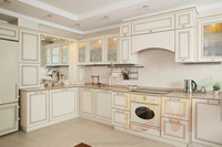 RTA Shaker European Style Clean white kitchen counter cabinet