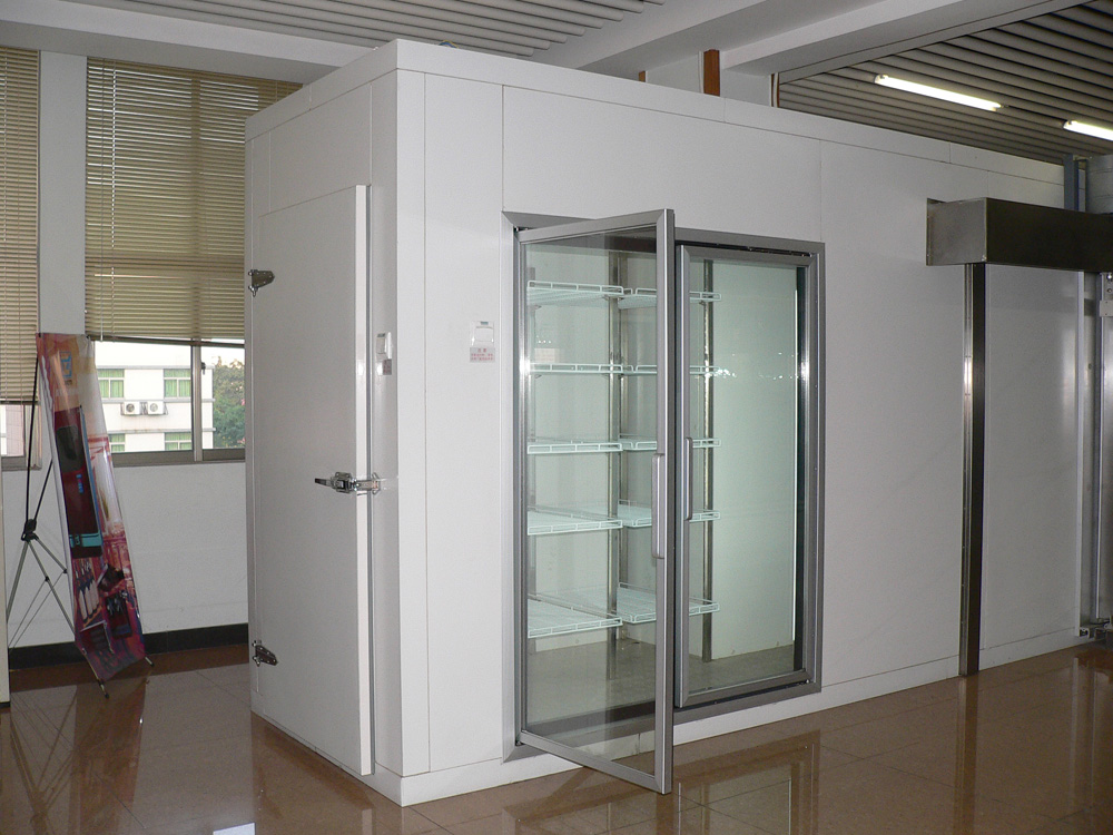 glass doors for displaying cold room