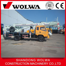 small yellow color power engine mobile crane for sale