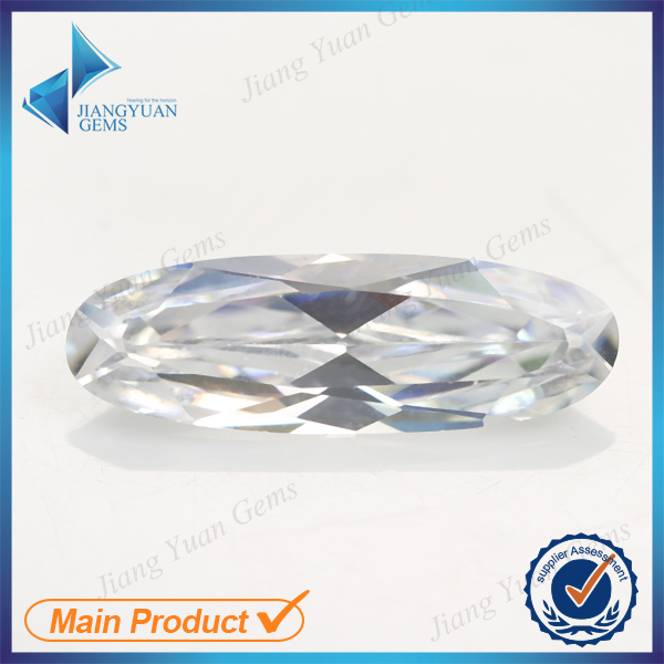 factory derect wholesale white oval shape synthetic cubic zirconia