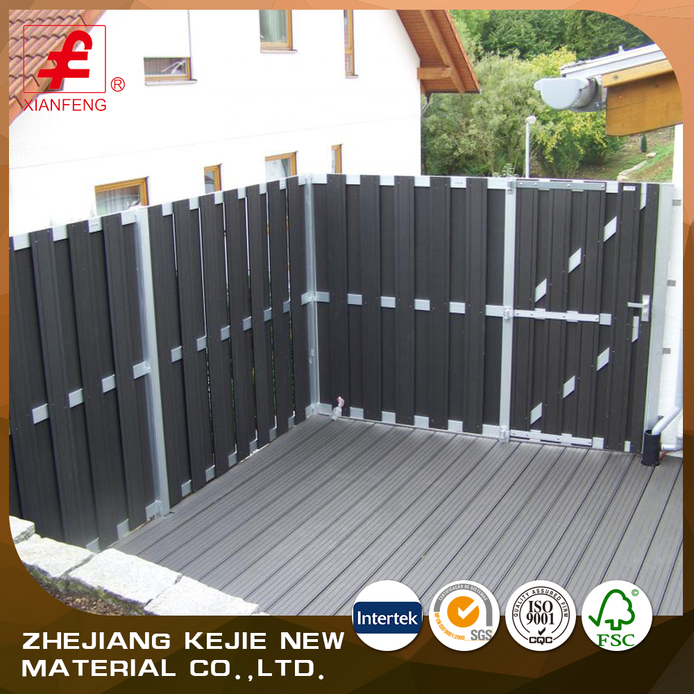 factory price outdoor garden wpc composite wood fence
