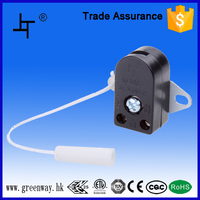 2A 250V one pole black/transparent pendant pull switch for wall light