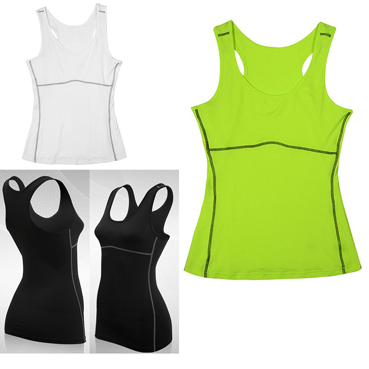 Ladies seamless athletic racerback tank top classic cotton tank top for workout