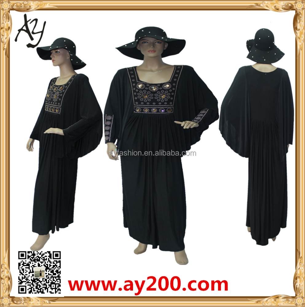 2015 hot selling kafatan cadta arab jalabiya dubai fashion item black abaya