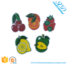 Factory Direct Sale Custom Cotton Paper Fruit Shape Car Air Freshener paper air freshener