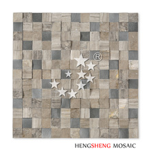 SD32 Interior Natural Decoration Stone Mosaic Wall Tile For Living Room Art Design
