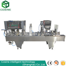 automatic yogurt cup/jelly cup/plastic cup filling sealing machine for sale