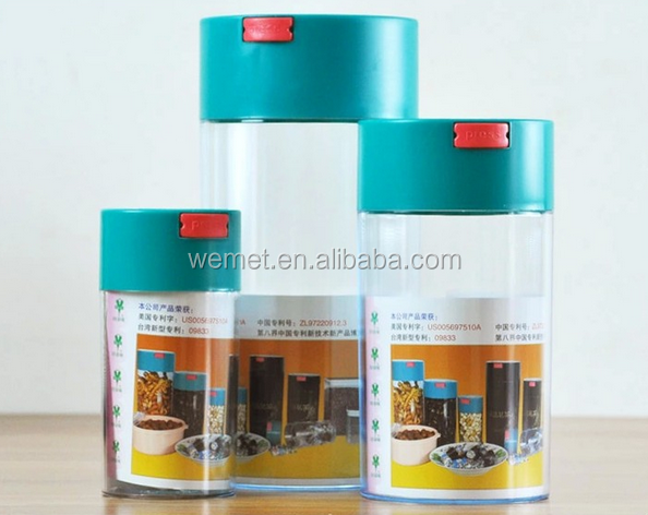 Plastic Coffee Vacuum storage container