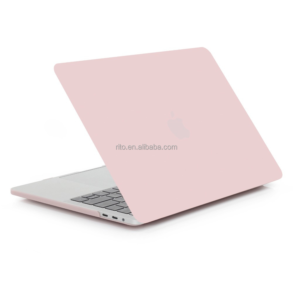 Pink Rubberized Case for New 13 Inch Macbook Pro, Plastic Laptop Hard Shell for Apple