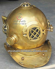 Brass Diving Helmet, Nautical Deep Sea Diver's Diving Helmet