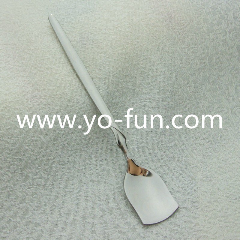 JBS050 Denmark stainless steel metal inox high grade square dessert spoon