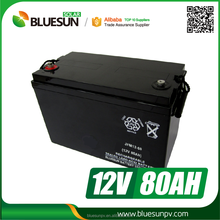 China Supplier 80AH Gel Battery for Inverter with Free Maintenance 12V
