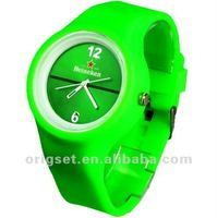 promotional silicone round jelly watch