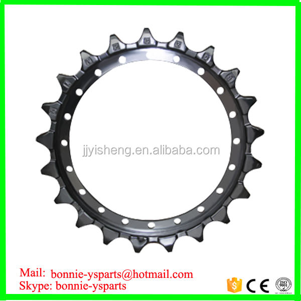 factory price excavator chain sprocket and excavator sprocket pc200