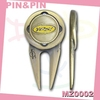 eco friendly anti plating color zinc alloy epoxy golf accessories divot tool