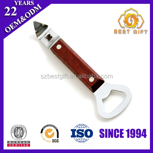 Best selling business gift wooden handle bottle openers
