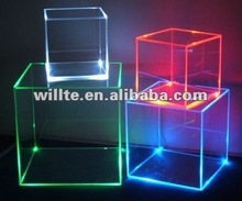 led colorful acrylic display cubes