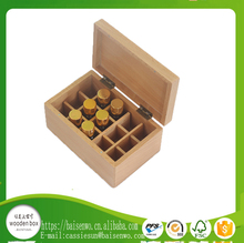 Custom 15 24 26 30 36 Pine Bamboo Timber Wooden Display Essential Oil Packaging Storage Box