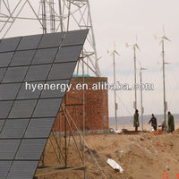 solar system with 1500W 1.5KW wind turbine power telecom station