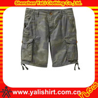 Customized comfortable high quality casual 100%cotton camouflage fitness cheap mens 3/4 cargo shorts