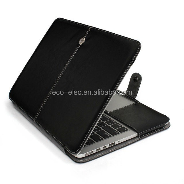 Fashion PU Leather Laptop Bag Case For Mac Pro Air Retina 11 12 13 15 inch Ultrabook Notebook Cover bag for Mac 13.3 Touch Bar