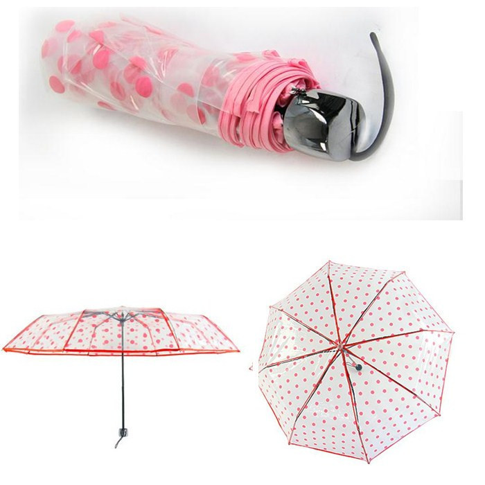 Promotional Foldable Transparent Umbrella,Kid Transparent Umbrella,PVC Umbrella