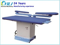 Laundary flat vacuum ironing pressing machine/ironing board with two swing arms